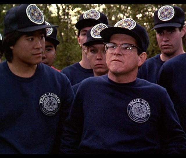 Police Academy 3 Back In Training Police Academy Cadet Background Actor Navy Sweatshirt The Golden Closet