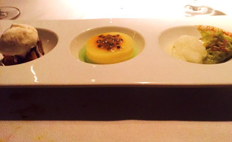 A trio of desserts at Tempo Dulu