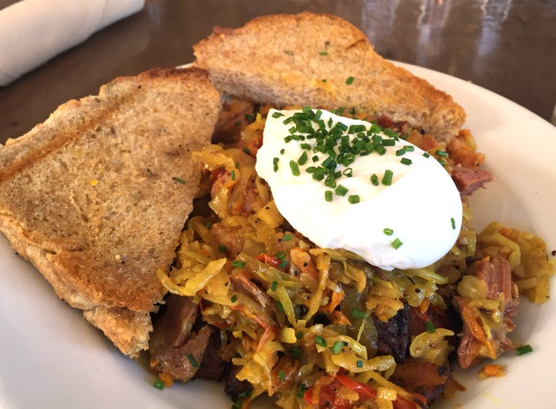 LFK's delicious curried corned beef hash