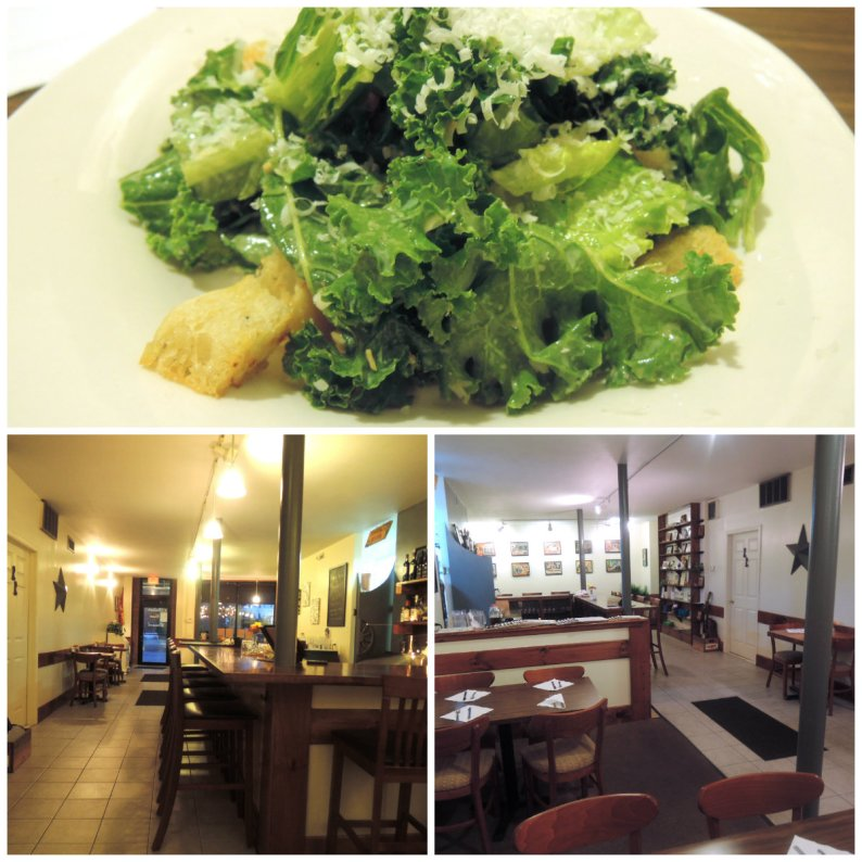Caesar salad; the dining room at Abilene