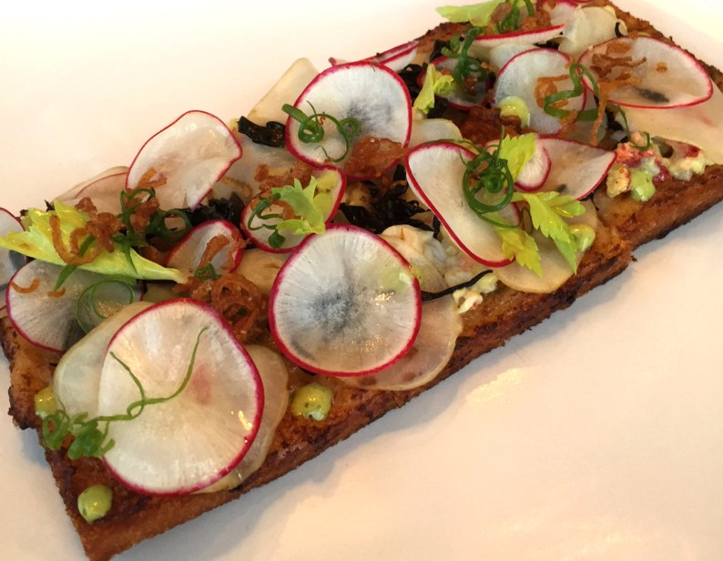 Lobster tartine at The Honey Paw