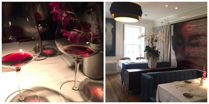 Fine wines served at the dinner in one of three dining rooms at Tempo Dulu at the Danforth