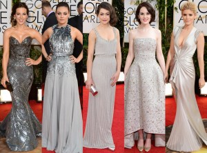 Red Carpet Trends from the 2014 Golden Vestidos Plateados TheGoldenStyle