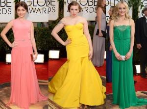 Red Carpet Trends from the 2014 Golden Vestidos colores vivos y brillantes TheGoldenStyle