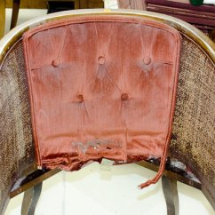 How To Cane A Chair Eames Lounge Cushions Replacement Tufted Tutorial Take It Apart The Golden Sycamore Reupholster With Back