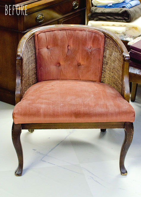 Tufted Cane Chair Tutorial  How to Take it Apart  The