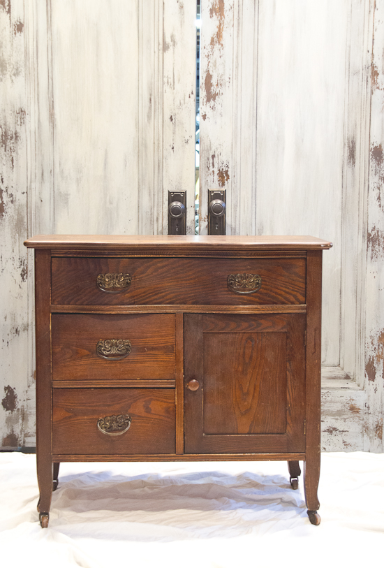 Antique Repurposed Wash Stand to Small Dresser  The Golden Sycamore