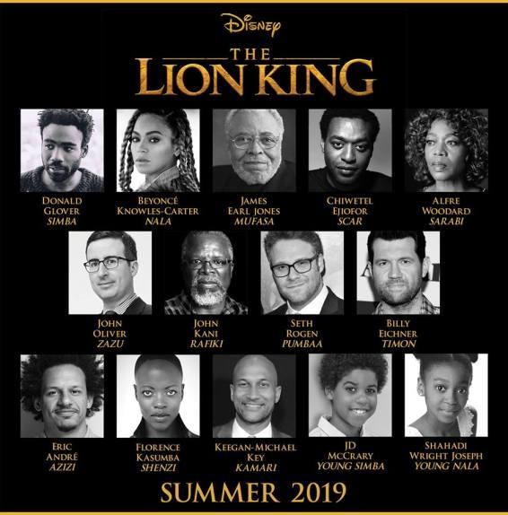 the lion king 2019 actors