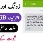 Zong Free Internet – Make Fake Messages of Zong Free Internet