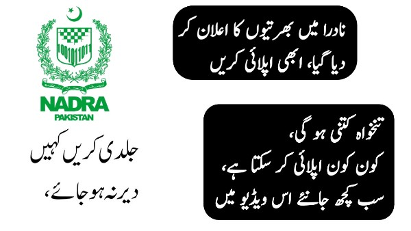 NADRA Multan Jobs 2019 – National Database & Registration Authority