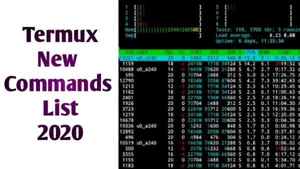 Termux Basic Commands List Android - Termux New Commands 2020 - The Gondal