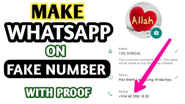 Get Working Fake WhatsApp Number - Make WhatsApp on Fake Number - The Gondal Apk