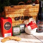 Cheese Port Pudding Wicker Christmas Hamper Set Gf Wco