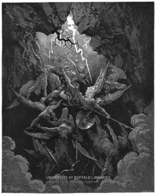 Hell at Last, Yawning Received Them Whole--Illustration by Gustave Dore (image taken from University at Buffalo Digital Collection)
