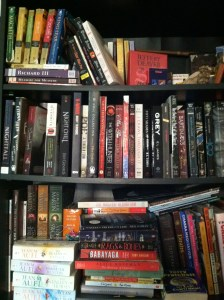 My bookshelf--aka where I go to find my next gothic read