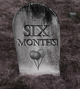 six month gravestone copy