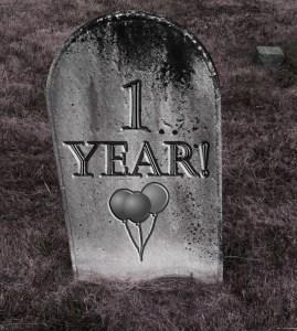 One Year anniversary gravestone 1