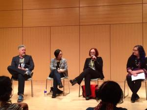 """Speculative Fiction Reflection Our World"" with Michael Buckley, Malinda Lo, and Victoria Schwab."