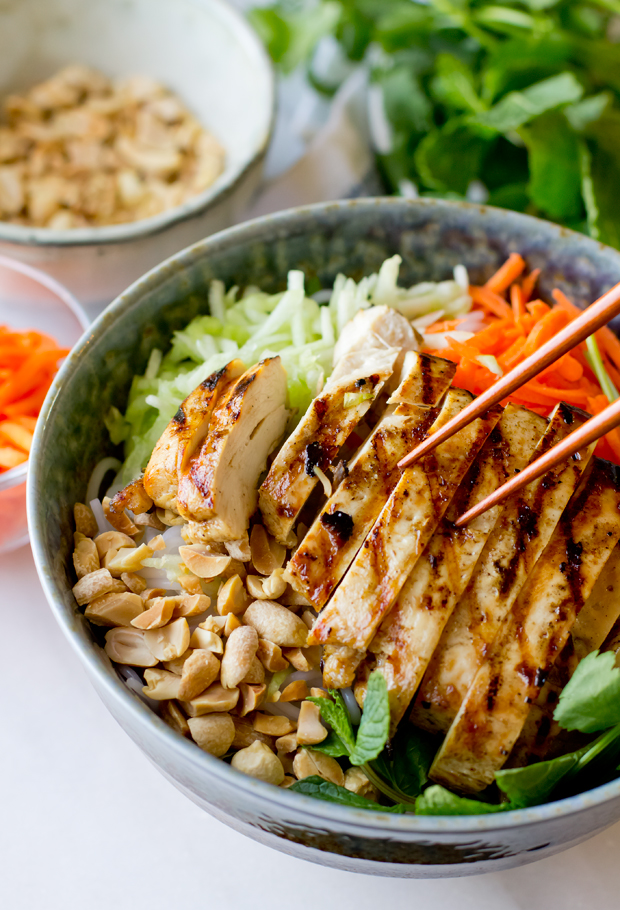 Vietnamese Chicken Vermicelli Salad The Gourmet Gourmand