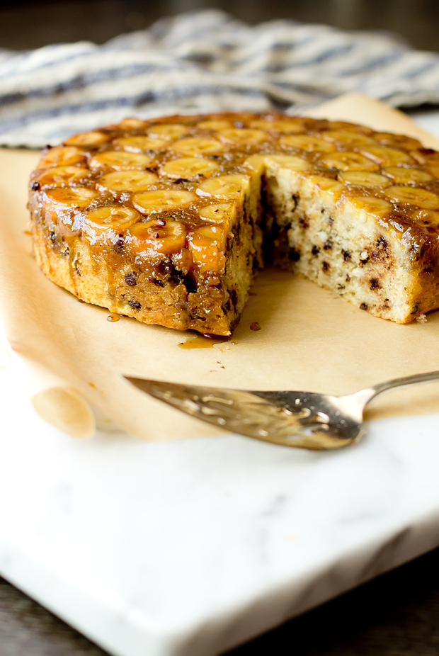 Brown Butter Banana Chocolate Chip Cake