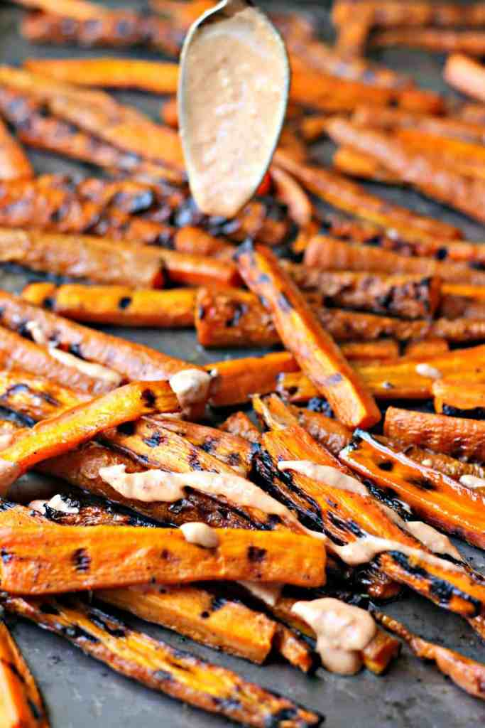 Carrot Fries Drizzling