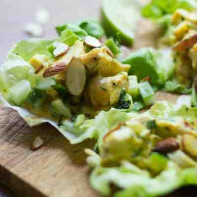 Curried Turkey Salad Lettuce Cups