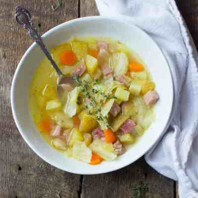 Old-Fashioned Ham, Cabbage & Potato Soup