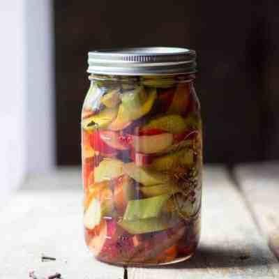 Sweet Pickled Rhubarb
