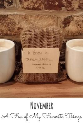 My Favorite Things: November