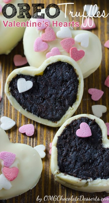 oreo truffles, bake, treat, heart, valentines day, February, Valentines Day Ideas