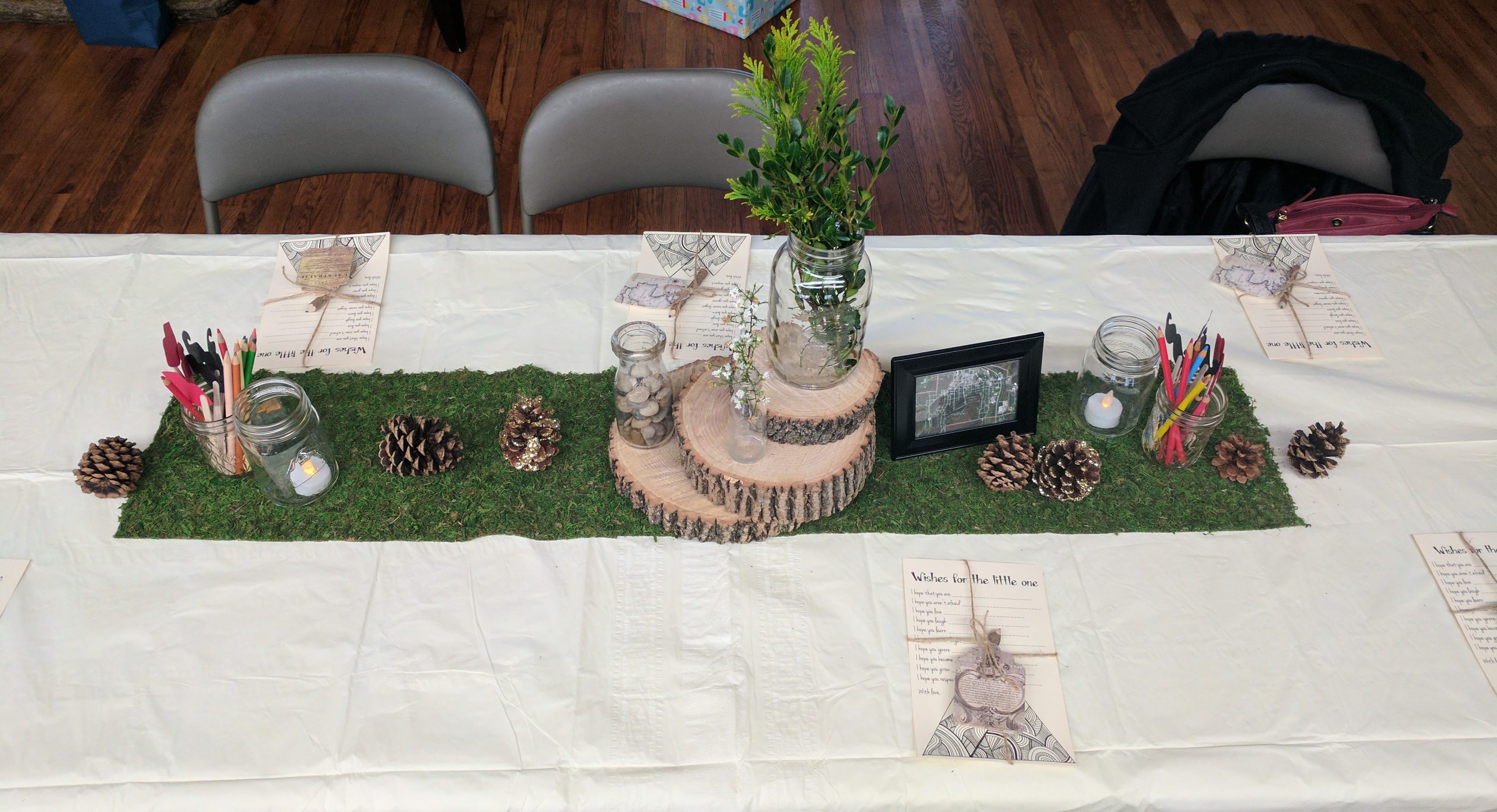 Woodland Baby Shower Tables