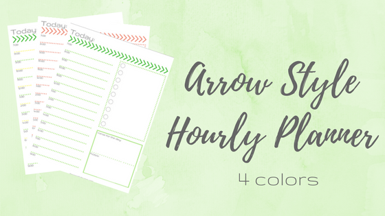 Free Arrow Hourly Planner