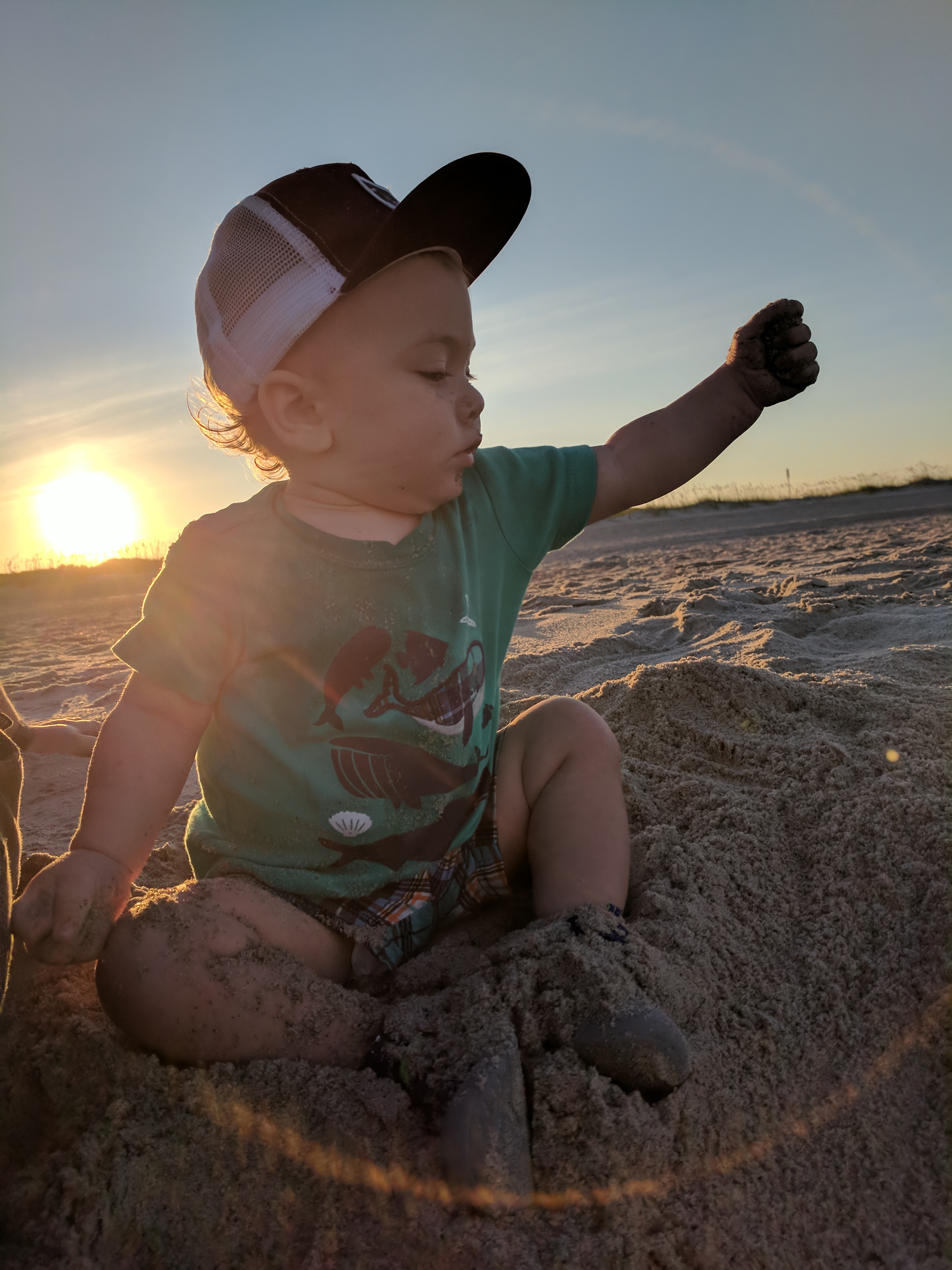 The Grand Seeley Adventure, family vacation, sand man Logan