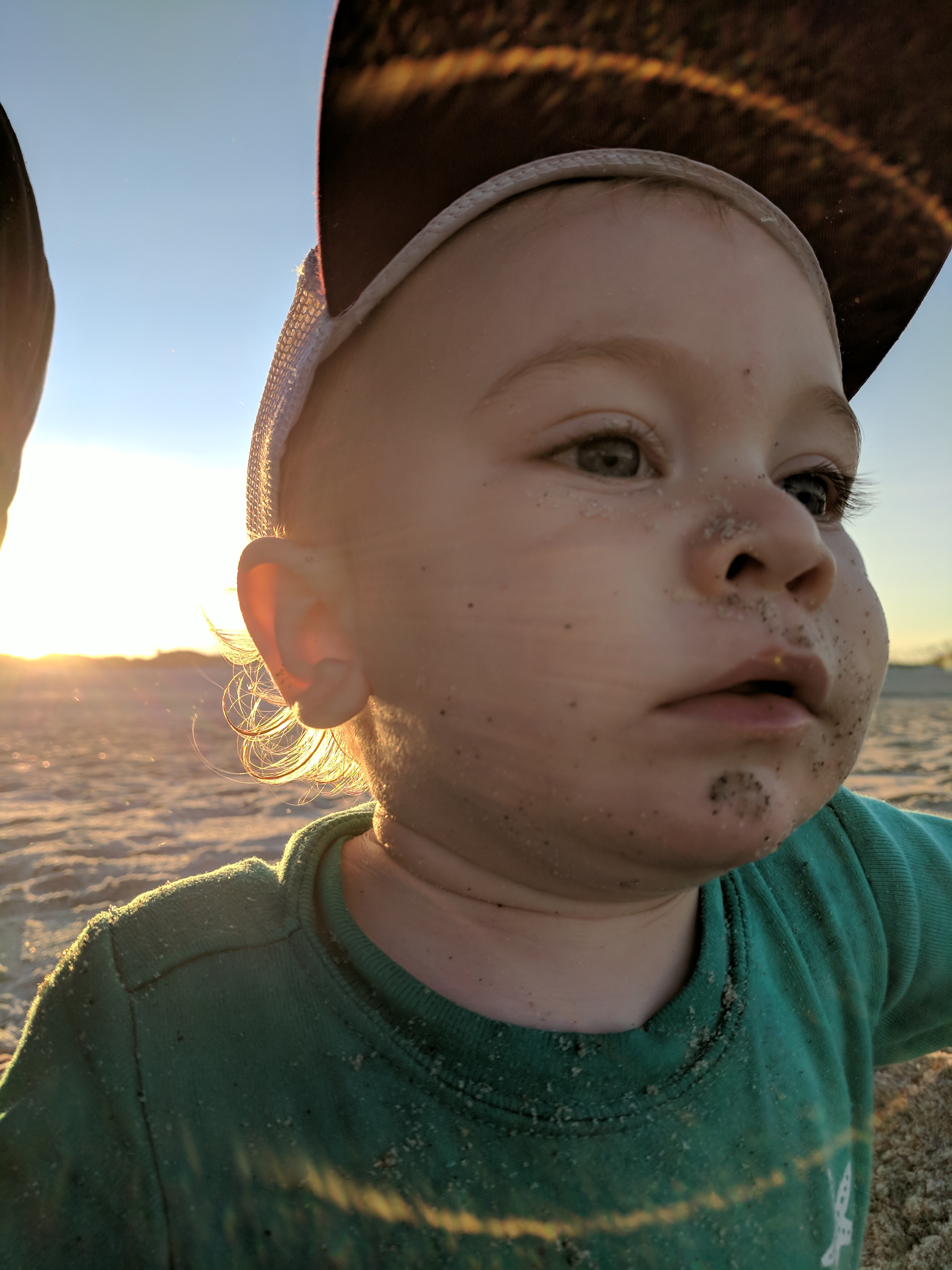 The Grand Seeley Adventure, family vacation, sand and golden hour