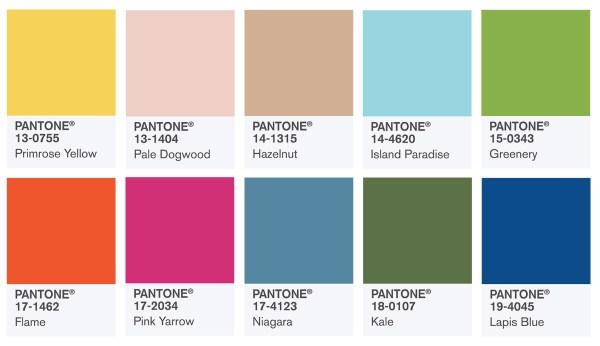 Pantone Spring 2017 colors