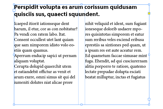 InDesign's Span Columns results make it easy to work with your text