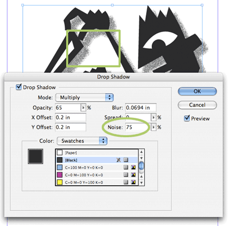 InDesign drop shadow