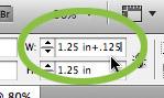 InDesign measurement input