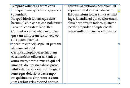 Unbalanced columns of text
