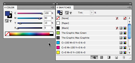 Working with color in Adobe InDesign