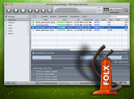 Folx Downloader for Mac