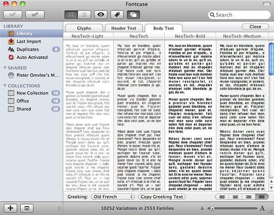 FontCase - comparing fonts