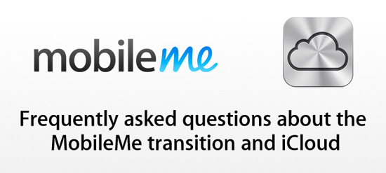 MobileMe to iCloud transition