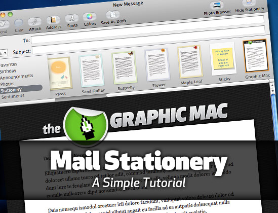 How to create customized OS X Mail stationery in Snow Leopard ...