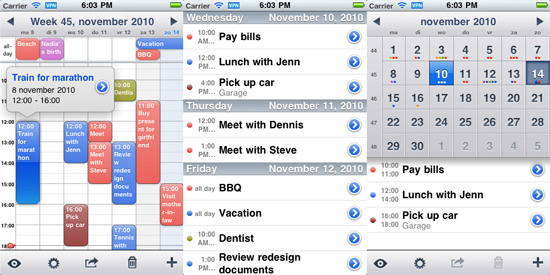Week Cal for iPhone