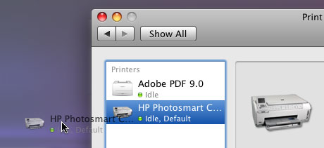 Desktop printer icon