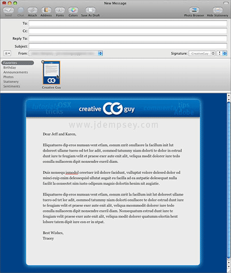 Stationery templates for mac mail.