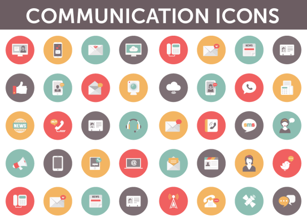 Communications vector icon pack