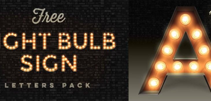 Vintage light bulb sign font