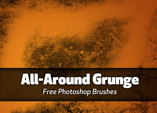 All Around Grunge Photoshop Brushes
